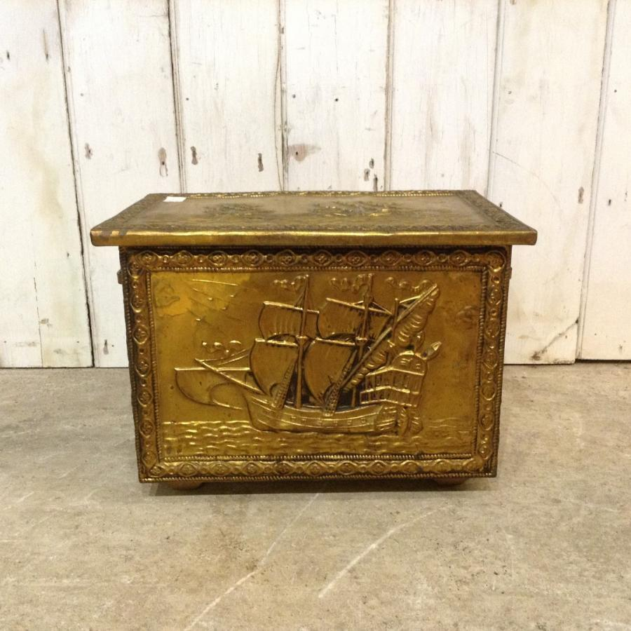 Brass Coal Scuttle or Log Box