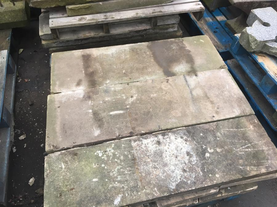 reclaimed stone copings / stone steps