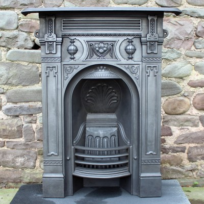 Set of 3 Reclaimed Victorian bedroom fireplaces