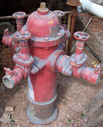 U.S.A. Fire Hydrant; 4 way- feature/reconstruction