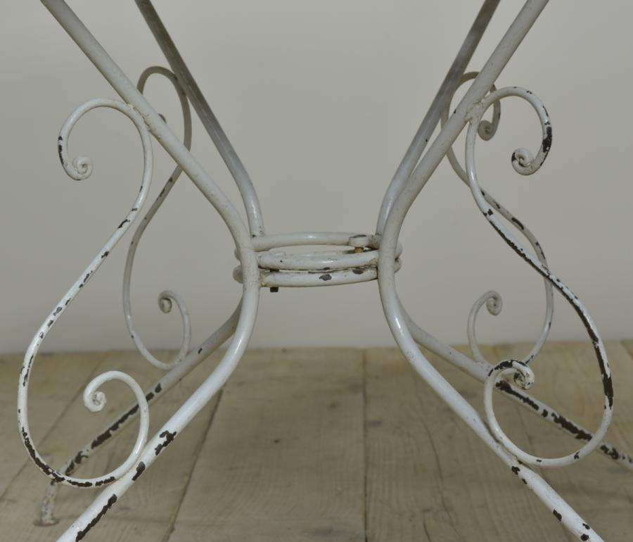 french iron garden dining table