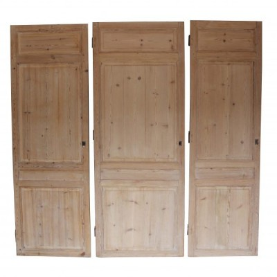 Three Antique French Cupboard Doors