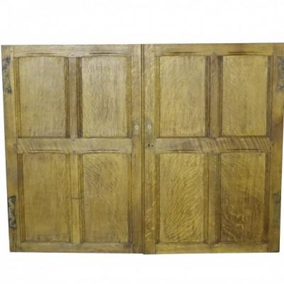 Pair Of Oak Cupboard Doors
