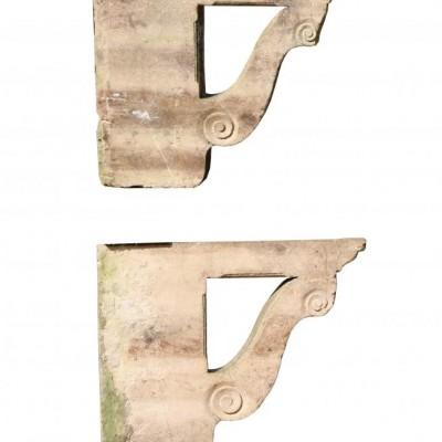 Pair Of Antique Cotswold Stone Porch Brackets