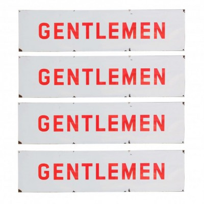 Four English Enamel 'gentlemen' Signs
