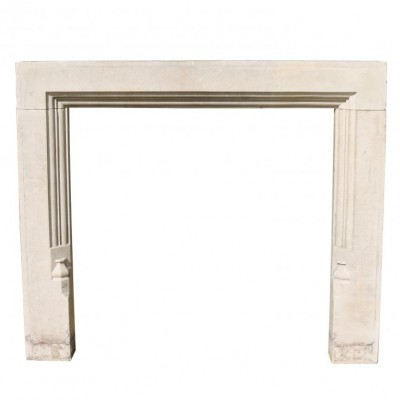 Antique Portland Limestone Fire Surround C. 1910