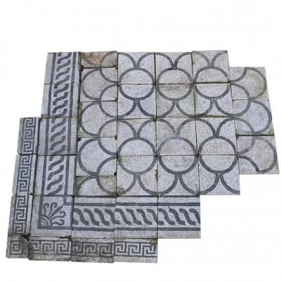 Italian Romanesque Marble Mosaic / Pavement
