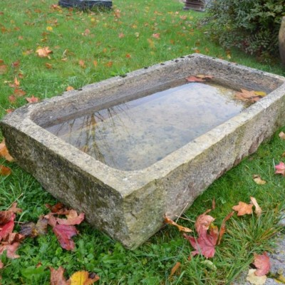 Antique reclaimed french limestone trough