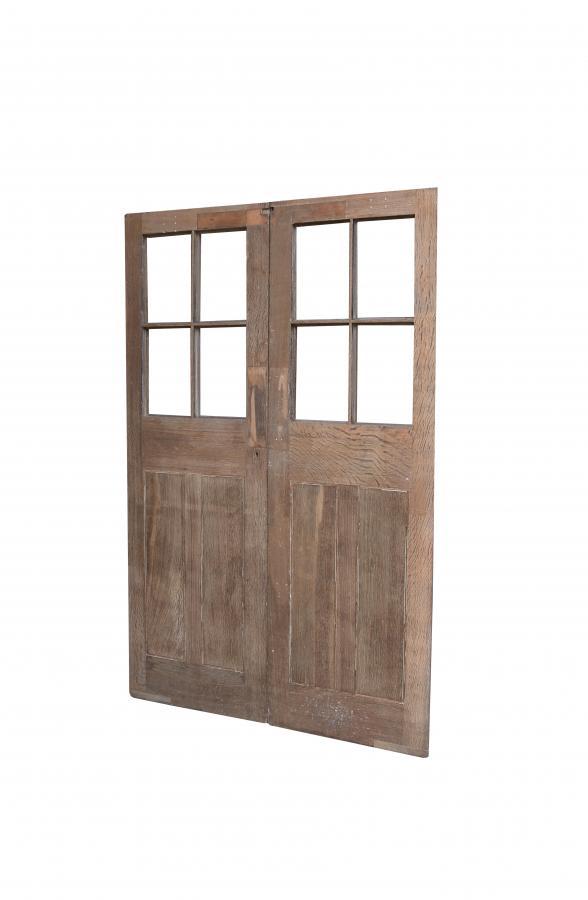 Pair Of 1920s Exterior Oak Double Doors