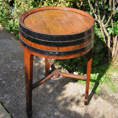 OLD Sherry Barrel Tables  (Pair)