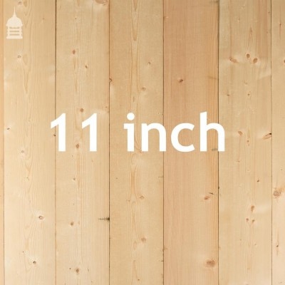 """11"""" Wide Pine Floorboards Cut from Joists with a Planed Finish"""