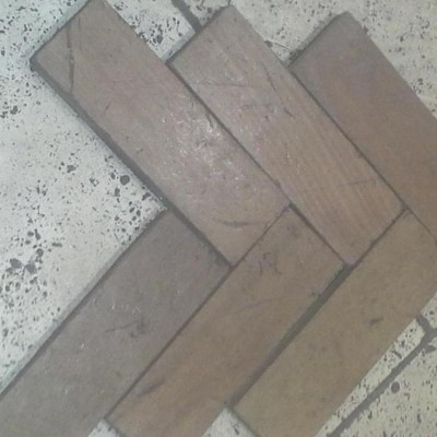 Parquet flooring reclaimed woodblock