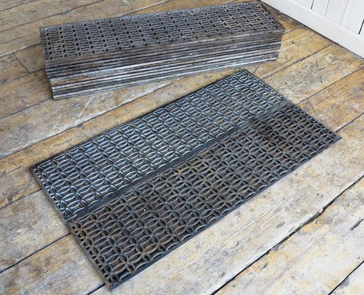For Sale Rare Victorian Cast Iron Church Floor Grillesgrids