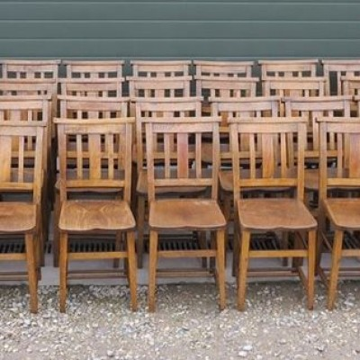 Edwardian Church Chairs with Bible Backs