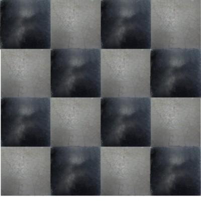 black & white checker ciment tiles