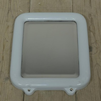 antique ceramic framed mirror - oblong