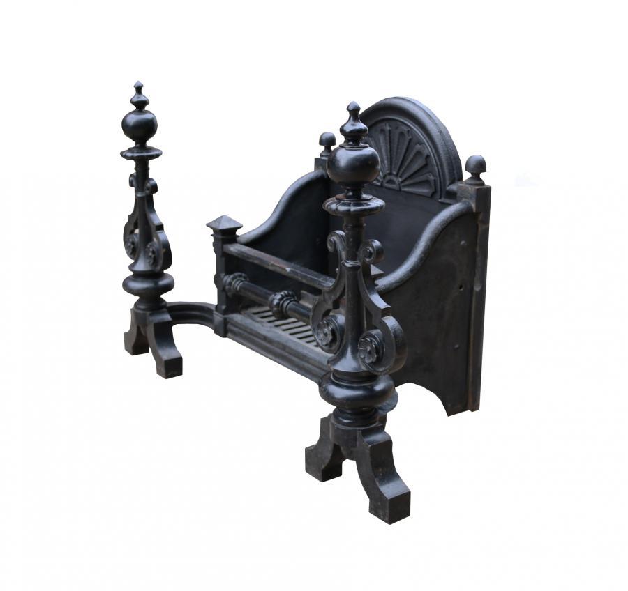 Antique Cast Iron Victorian Fire Grate
