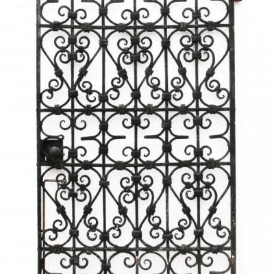 Black Wrought Iron Pedestrian Gate Circa. 1900