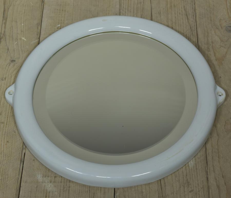 antique ceramic framed bathroom mirror