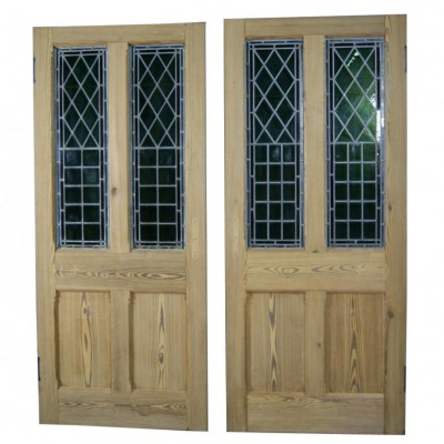 Stained glass chapel doors circa 1890