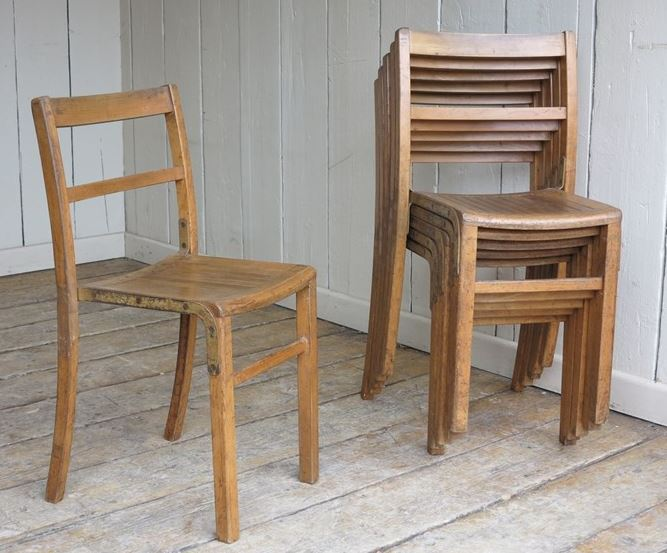 for sale reclaimed vintage wooden stacking chairs salvoweb uk