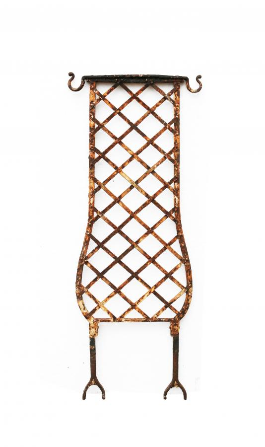 Reclaimed Wrought Iron Trellis/balustrade Sections Circa.1900