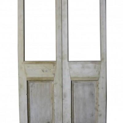 Pair Of Antique Pine Double Doors