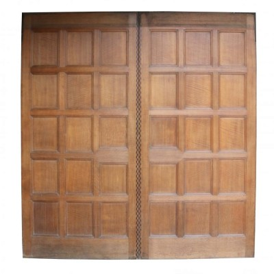 Pair Of High Quality Late 19th Century English Oak Double Doors