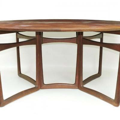 Peter Hvidt for France & Son 1960s drop leaf teak dining table
