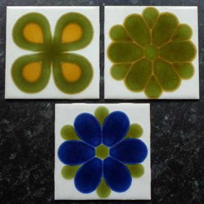 """1970s """" Cristal"""" ceramic tiles"""