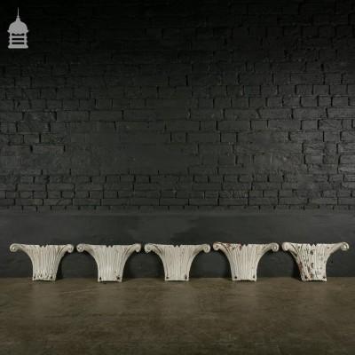19th C Cast Iron Column Collars-32 Available