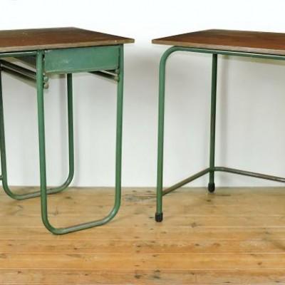 Tubular steel desks Biddulph Industries Wales Industrial vintage