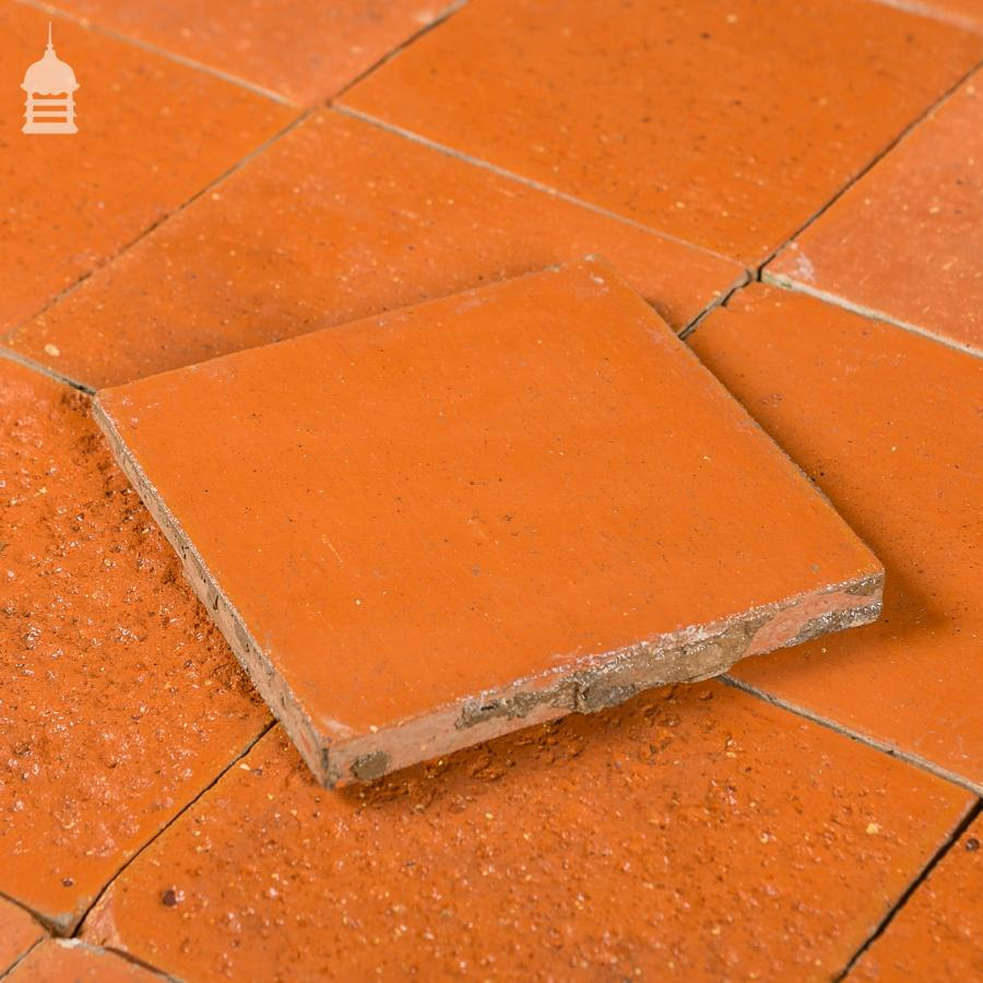 For Sale Reclaimed 6x6 Thin Red Quarry Tiles 6 Inch X 6 Inch Floor