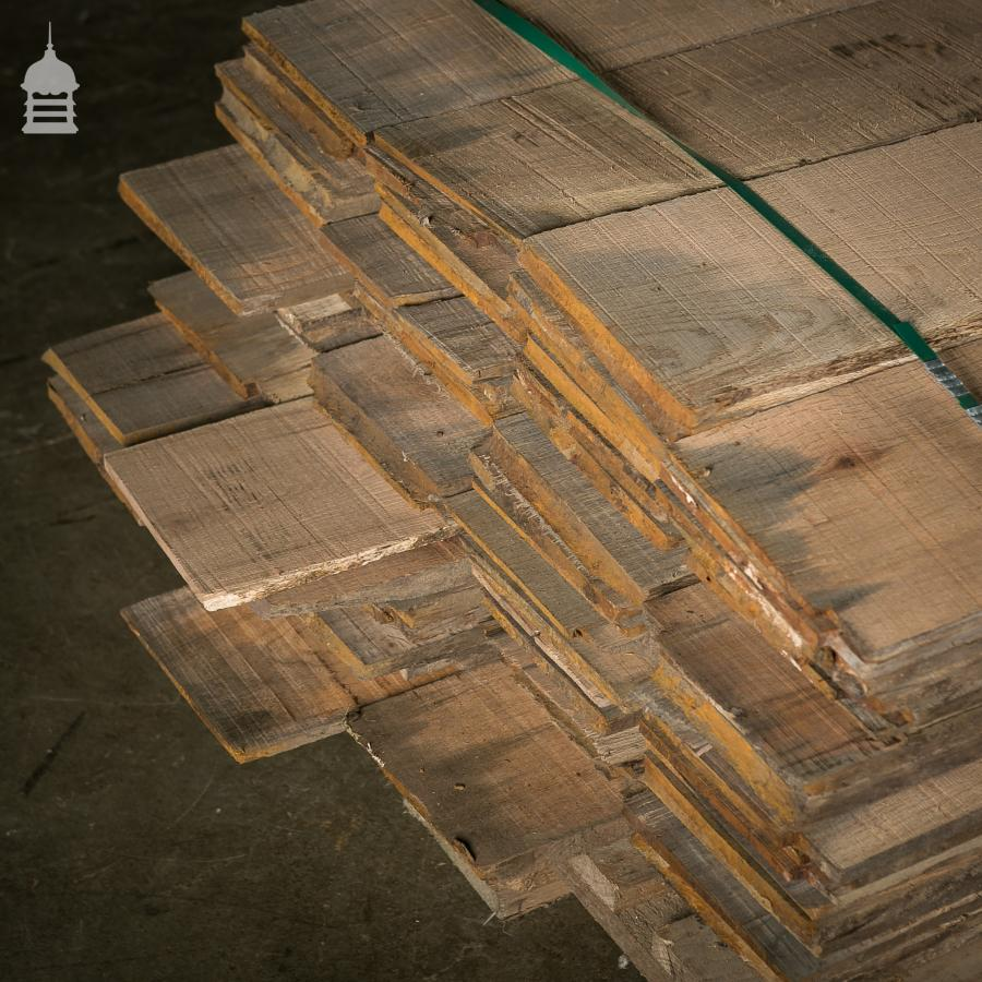 Sawn Boards from Reclaimed Oak Pilings - Over 16 Square Metres