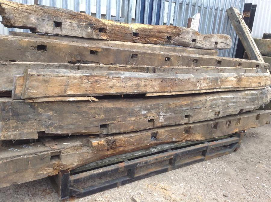 For Sale Large Quantity Of Reclaimed Oak Beams Salvoweb Uk