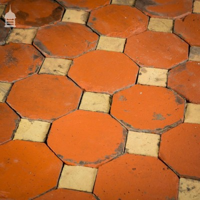 Stunning 18th C Octagonal and Square Church Floor Tiles - 7 SqMs