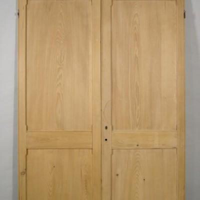 Pair of pine cupboard doors