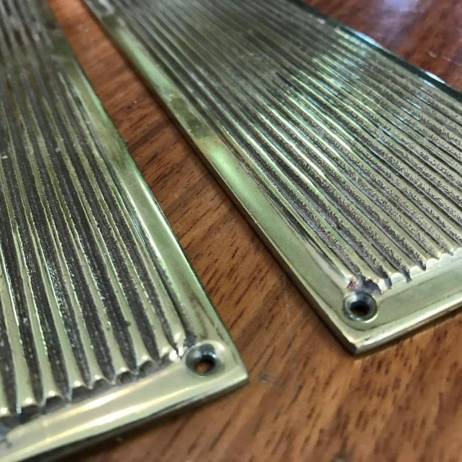 Long Reclaimed Brass Fingerplates