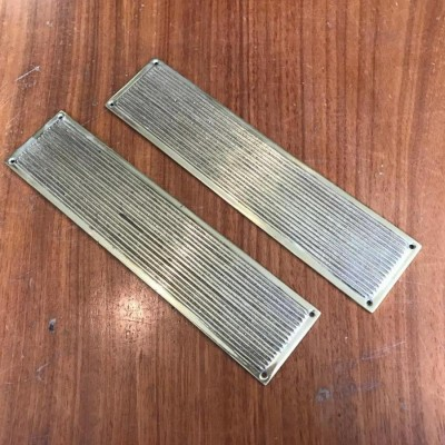 Long Reclaimed Brass Fingerplates
