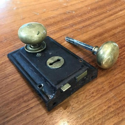 Reclaimed Brass Door Lock