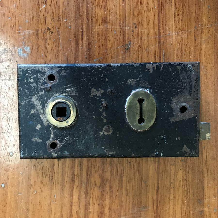 Reclaimed Antique Brass Door Lock