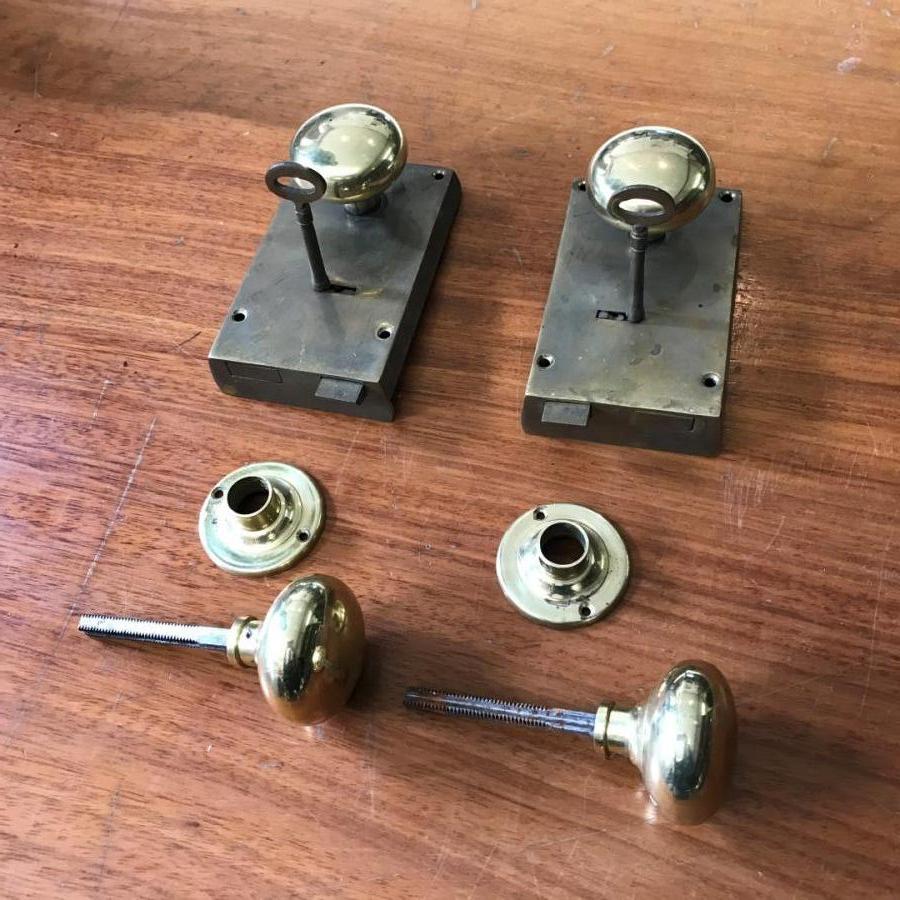 Pair of Antique Brass Locks