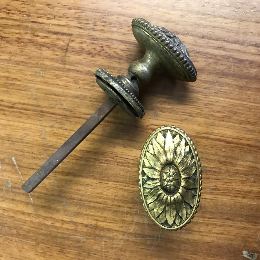 Antique Edwardian Brass Knobs