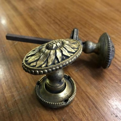 Antique Edwardian Brass Knobs