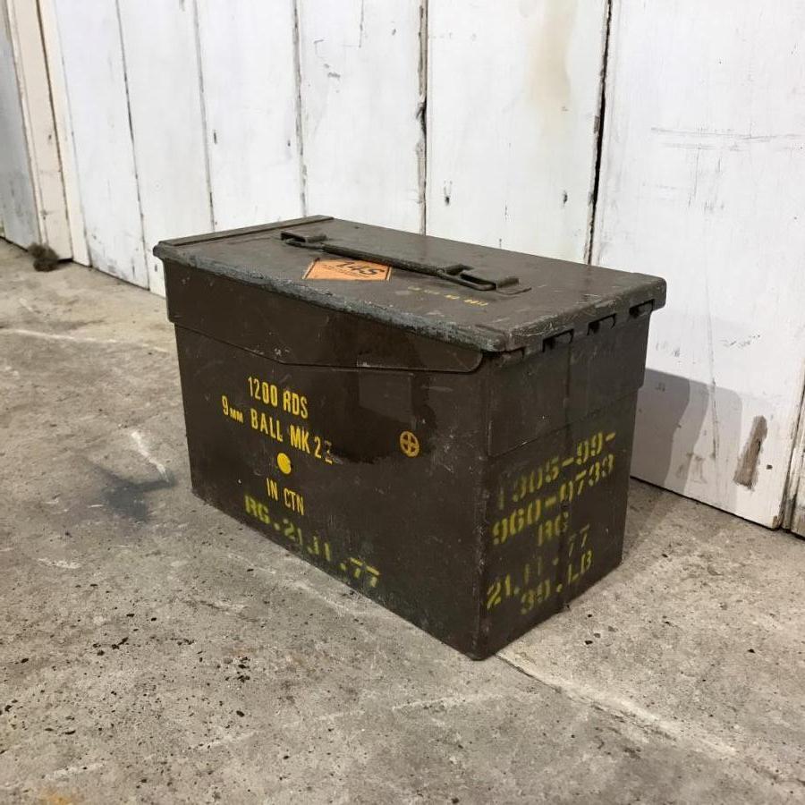 Original Salvaged 9mm Ammunition Canister