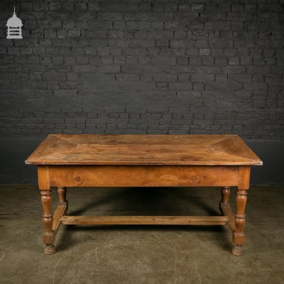 Early 18th C Walnut Farm House Kitchen Scullery Table