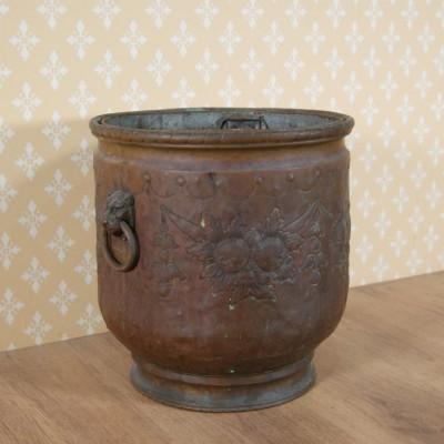 A 19th century copper coal bucket