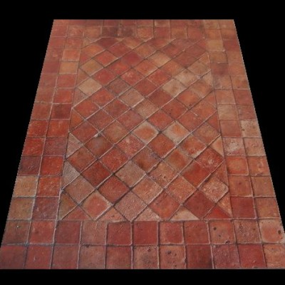 Reclaimed terracotta floor tiles