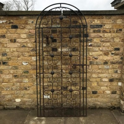 Round-Topped Wrought Iron Gate