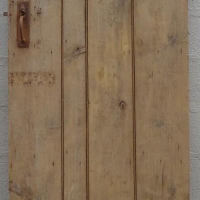 19th century beaded ledged pine door.